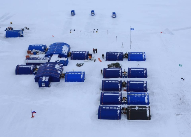 Ice Camp Barneo, Aerial View