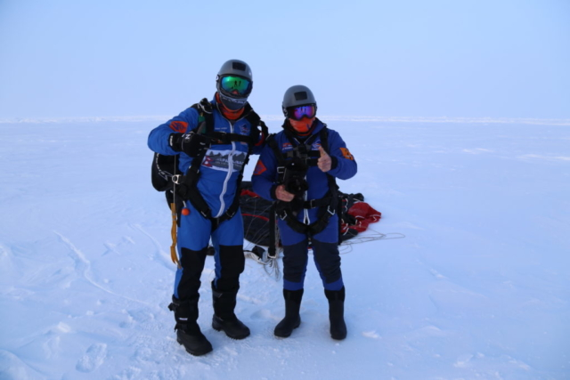 Skydivers Land on the North Pole