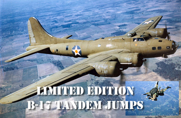 Limited Edition B-17 Tandem Jumps