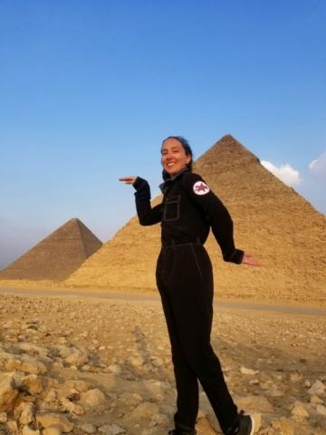 Rebecca Claxton in Egypt